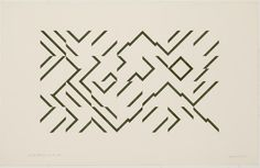 Guy de Cointet  ...over the hills and the forest..., 1978    #maze #geometric