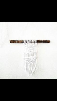 Traumfänger & Mobiles - Wandbehang wallhanging macrame makramee Ast stock - ein Designerstück von JustbeA bei DaWanda
