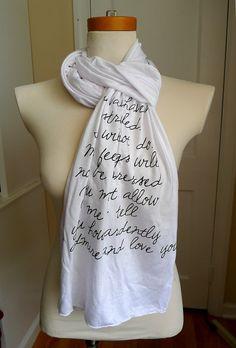 Mr Darcy proposal scarf Jane Austen Mr Darcy Scarf by rachelwalter, $28.00