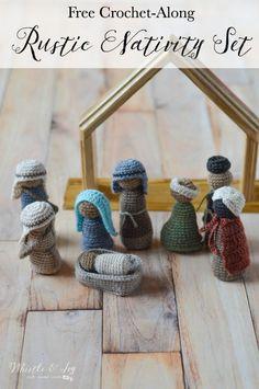 Crochet Nativity Set - Free Crochet Pattern Crochet Along] - - FREE Crochet Patterns: Crochet Nativity Set Crochet Christmas Decorations, Christmas Crochet Patterns, Crochet Ornaments, Holiday Crochet, Crochet Gifts, Crochet Dolls, Free Crochet, Crochet Angels, Crochet Snowflakes