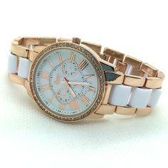 Beaute crystal bezel platinum geneva watch causal ladies quartz watch metal bracelet watch women clock