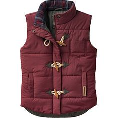 XXL - Rusty Maroon - Women's Plaid Lined Quilted Puffer Vest | Legendary Whitetails