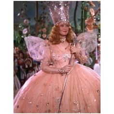 Glenda the good witch :) I remember watching the Wizard of Oz every year when it came on tv and thinking that this was THE most beautiful dress :)