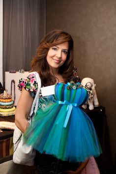 Maria Canals Barrera from Wizards of Waverly Place Camp Rock and Camp Rock 2 from the Disney Channel holding our Emmy Awards Gift Lounge Display Piece.