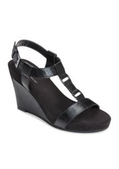 A2 by Aerosoles Black Plush Nite Sandal
