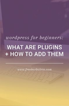 WordPress 101: What are Plugins and How to Add Them