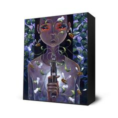 Pistol and Stamen Mini Art Block, $28, now featured on Fab.