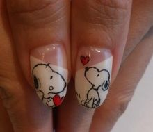 snoopy nail art 2