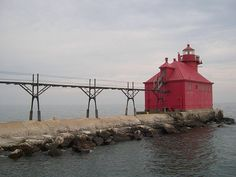 One of many lighthouses in Door County, WI