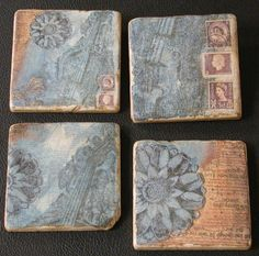 gel medium tile transfers..these are SOOOO cool..make them with family photos, holidays..maps..anything! we did it at Ty's school.