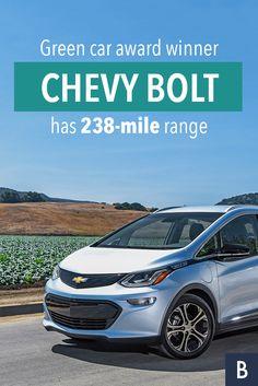 Green Car Award Winner Chevy Bolt Has 238 Mile Range Carscar Insurancegeneral Motorsphoto