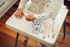 Ikea Antilop highchair gift idea. Ikeahack for children.
