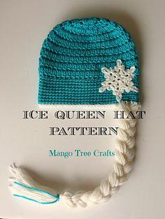 Ice Queen crochet hat pattern by Lilia Garashchenko, pattern through ravelry