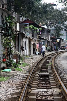 Train Tracks Hanoi, Vietnam http://www.flickr.com/photos/49994076@N04/5686501396/in/set-72157626614545834/