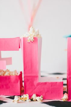 typography paper bags
