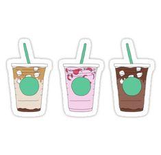 Coffee drink Menu - starbucks iced coffee drinks menu pack' Sticker by finniel. Iced Coffee Drinks, Starbucks Iced Coffee, Cream Of Pumpkin Soup, Gourmet Recipes, Healthy Recipes, Drink Menu, Cute Stickers, Food Stickers, Calories