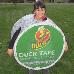 DIY Roll of Duck Tape Costume @Paige Hereford Jimmerfield  @Leslie Lippi Jimmerfield
