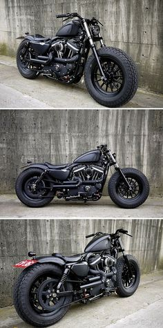 "Image via Harley XL883R Image via No-Limit-Custom ""Monza"" V-Rod by NLCpix Image via Bozzies custom bike design 
