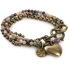 Oxxo Kenza Heart Bracelet ($61) ❤ liked on Polyvore