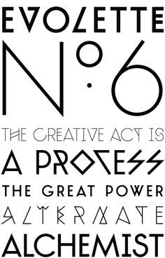 TJ Evolette. Experimental typeface that explores both geometric construction and the abstraction of character shapes.