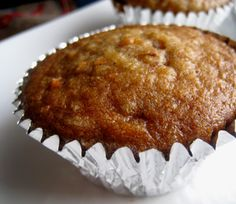 BEST MUFFIN EVER! - Pineapple carrot muffin recipe - then I added 1 cup sweetened shredded coconut and 1 cup raisins. I also used the contents of half a real vanilla bean in place of vanilla extract. Zucchini Muffins, Carrot Cake Muffins, Healthy Muffins, Healthy Treats, Yummy Treats, Yummy Food, Muffin Recipes, Cake Recipes, Brunch Recipes