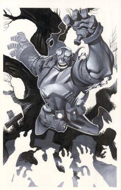 Chris Stevens HELLBOY Comic Art