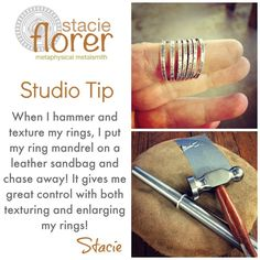 How to texture skinny rings and other tips and tricks!