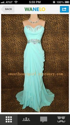 Cheap Custom Made A-line Sweetheart Ice Blue Chiffon Long Prom Dresses, Formal Dresses, Strapless Evening Dresses, Wedding Party Dresses Prom Dresses Blue, Pretty Dresses, Homecoming Dresses, Formal Dresses, Graduation Dresses, Dress Prom, Dress Long, Strapless Dress, Senior Prom