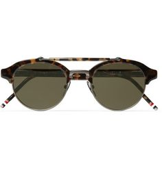 Thom Browne Round-Frame Metal and Acetate Sunglasses | MR PORTER