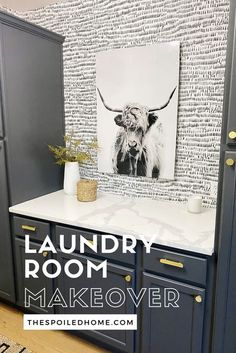 Check out Sandi Johnson's laundry room makeover from The Spoiled Home. Her latest update turned her laundry room into a place where folding clothes is fun! #TheSpoiledHome #LaundryRoom #HomeDecor Small Laundry Rooms, Laundry Room Organization, Laundry Room Design, Woven Laundry Basket, Laundry Drying, Laundry Hacks, Laundry Room Remodel, Basement Laundry, Houses