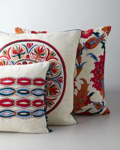 Design Accents Uzbek Accent Pillows - Horchow (I hope I can never 'afford' to spend 120$ for one throw pillow. That's just crazy. But these colors are fantastic)