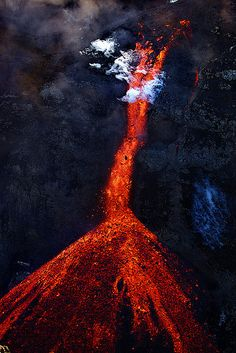 Lava fall in Hrunagil canyon, Iceland