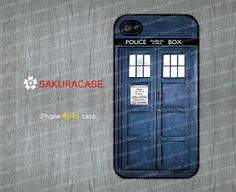 TARDIS Doctor Who iPhone 4 case Dr Who iPhone 4 Case Doctor Who cover skin case for iphone 4 4s case Hard/Rubber  by sakuracase, $6.99