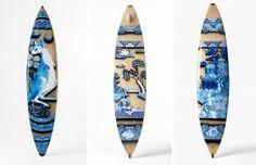 Tablas de Surf Pirograbadas, Arte y Deporte2