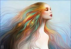 Angelic Airbrushed Females  Anna Dittmann Paints Heavenly Women Evocative of Religious Figures