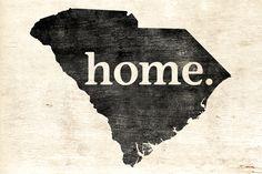 Keep Calm Collection - South Carolina Home Poster Print