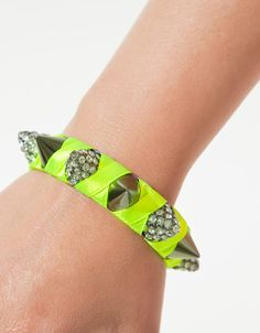 CONICAL STUD BRACELET WITH DIAMANTE AND A TOUCH OF NEON - Accessories - Accessories - Woman - ZARA United States