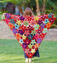 Wonderful Crochet Scarf Hawaiian Flowers- 25 DIY Crochet Shawl Patterns | DIY to Make