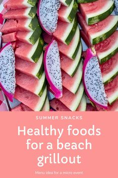Summer snacks. Watermelon. Summertime. Healthy foods for a beach grillouts Steamed Crab Legs, Steamed Crabs, Boiled Baby Potatoes, Roasted Baby Potatoes, Healthy Summer Snacks, Healthy Meals, Healthy Recipes, Summer Party Themes, Summer Parties