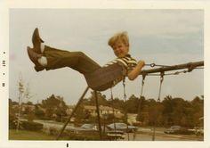 "Swinging so high.        1969 Vintage Photo ""Swinging Fun"", Photography, Paper Ephemera, Snapshot, Old Photo, Collectibles - 0112. $3.25, via Etsy."