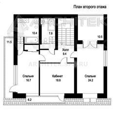 Проект коттеджа Проект дома из пеноблоков с мансардой, балконом, террасой 11х14 KU-103-P. House Plans, Villa, Floor Plans, How To Plan, Projects, House Beautiful, Log Projects, Blue Prints, House Floor Plans