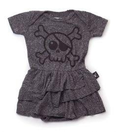 CZnuen Pink Pirate Skull and Crossbones Baby Girls Basic Short Puff Sleeve Round Neck Ruffle T-Shirt