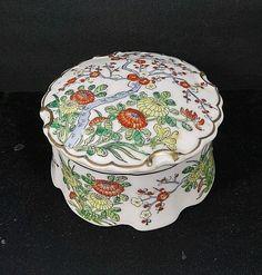 Da Qing Qianlong Nian Zhi Vintage Porcelain Round Trinket Box
