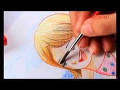 Faber-Castell Watercolour Pencils Technique (Sand Paper) - YouTube
