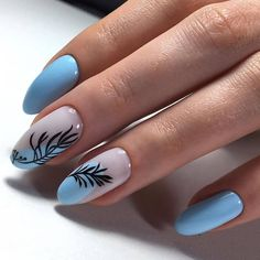 Discover new and inspirational nail art for your short nail designs. Manicure Nail Designs, Nail Manicure, Manicure Ideas, Short Nail Designs, Cool Nail Designs, Blue Nails, My Nails, Gel Nagel Design, Best Acrylic Nails