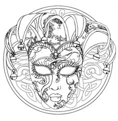 Here are Difficult Mandalas Coloring pages for adults to print for free. Mandala is a Sanskrit word which means a circle, and metaphorically a universe, environment or community. For centuries, in many cultures (eg Tibet), . Skull Coloring Pages, Fairy Coloring Pages, Free Adult Coloring Pages, Mandala Coloring Pages, Free Printable Coloring Pages, Coloring Books, Mask Drawing, Carnival Masks, Carnival Venice