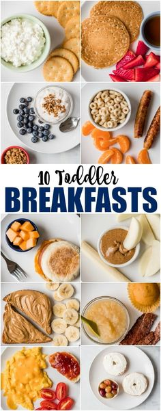 10 Toddler Breakfast Ideas to inspire your busy mornings! Mix and match these mostly healthy, always delicious kid favorites for a great start to any day. via @culinaryhill