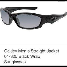 e4a78b3d46 OAKLEY STRAIGHT JACKET 26-236 Polished Black   OO Red Iridium Polarized