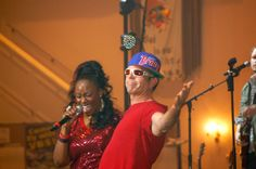 People seemed amazed that Rob Dempsey could bust out a rap and perform with Mandisa