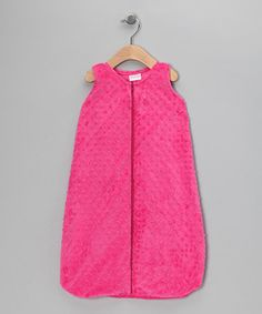 Take a look at this Fuchsia Sleeveless Minky Sleeping Sack - Infant by Bebe Bella Designs on #zulily today!